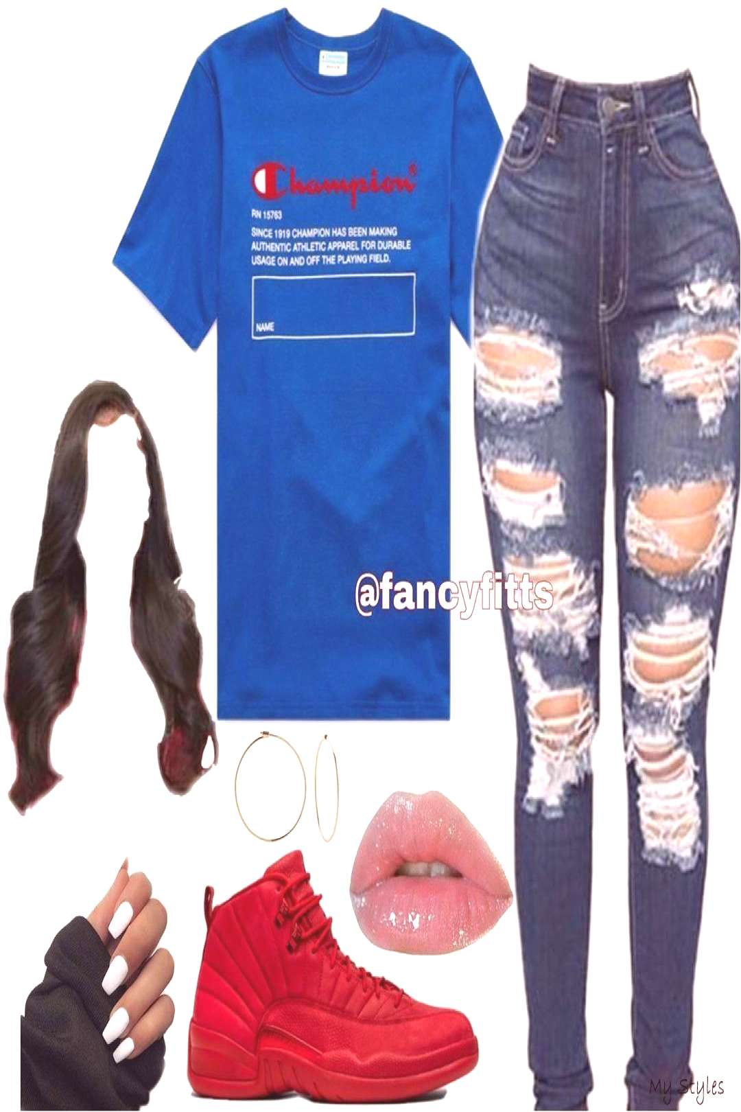 """Mar 21, 2020 - Daily Outfit Inspo✌ on Instagram """"Champion❤️💙 _ _ _"""