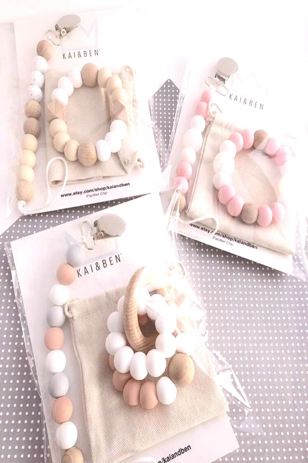 Pacifier clips, teethers and Accessories