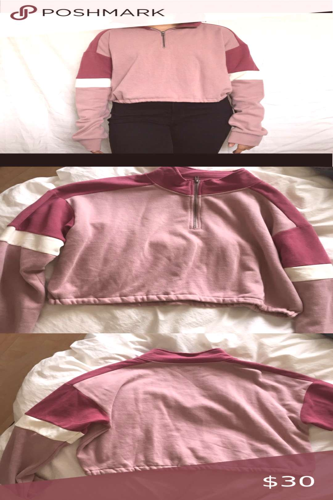 Pacsun half zip up sweater!! Cute and soft on the inside!!!! Perfect for almost any time of the yea