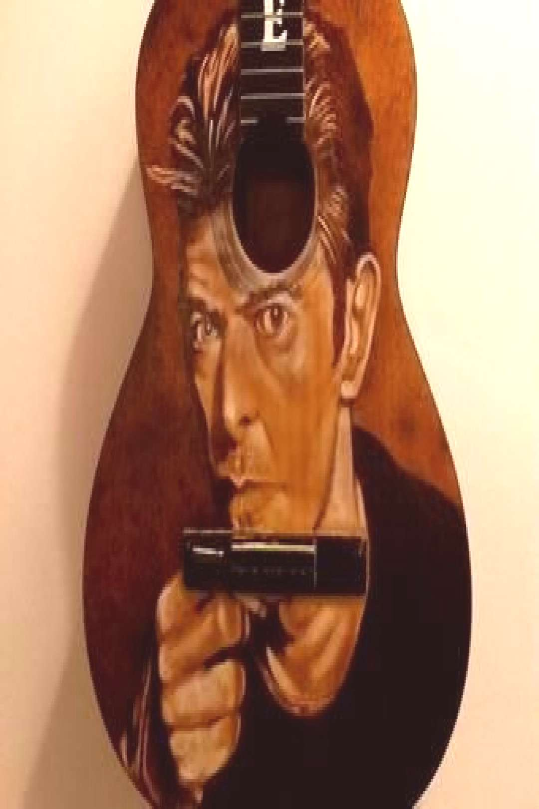 Painted Guitars Art Abstract painting pyrography de DelpuebloArt