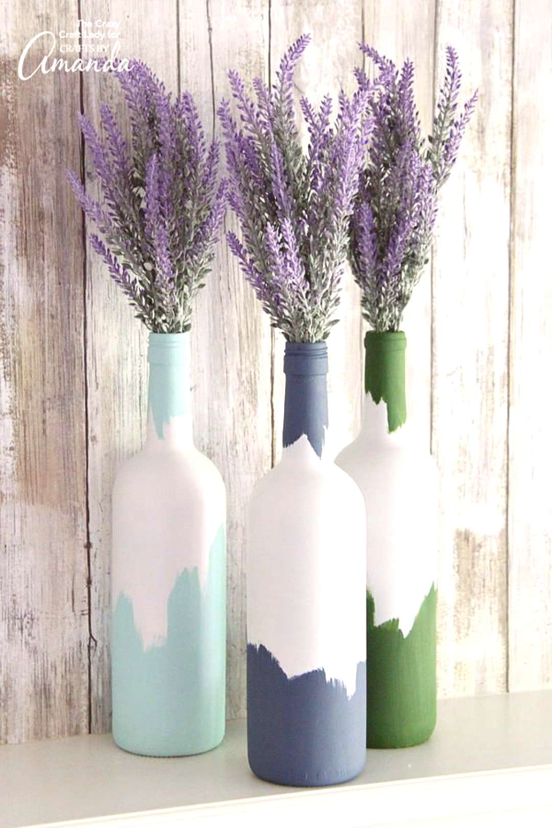 Perfect Painted Wine Bottle Craft Bottle painting is a great way to turn a recyclable material into