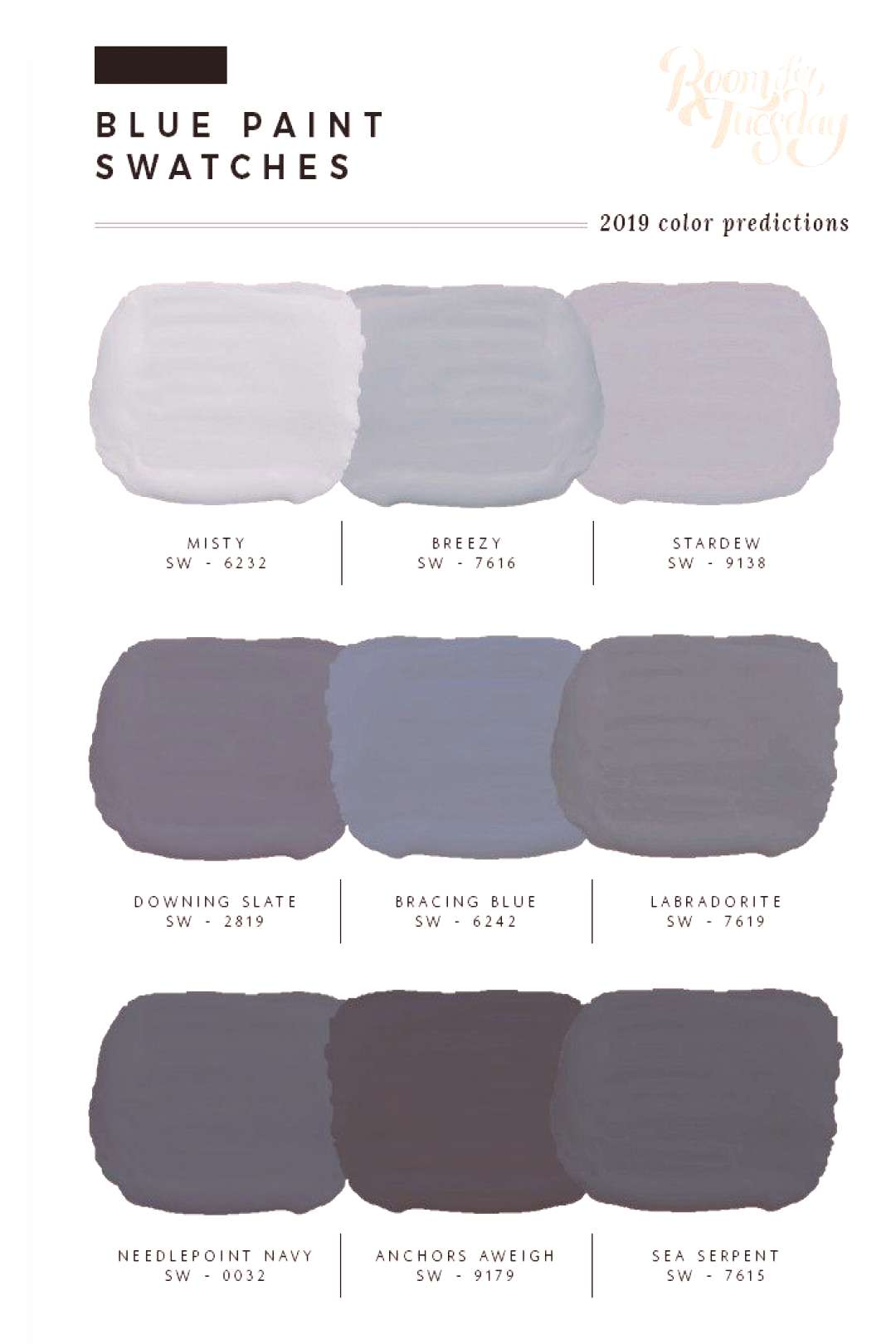 Predicted Paint Colors for 2019 -