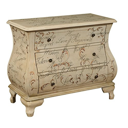 Pulaski Words of Encouragement Hand Painted Bombay Chest,