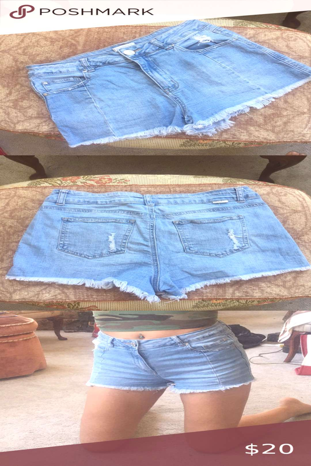 Sky and Sparrow PacSun Shorts! Pacsun midrise shorts (right below the belly button) super cute, but