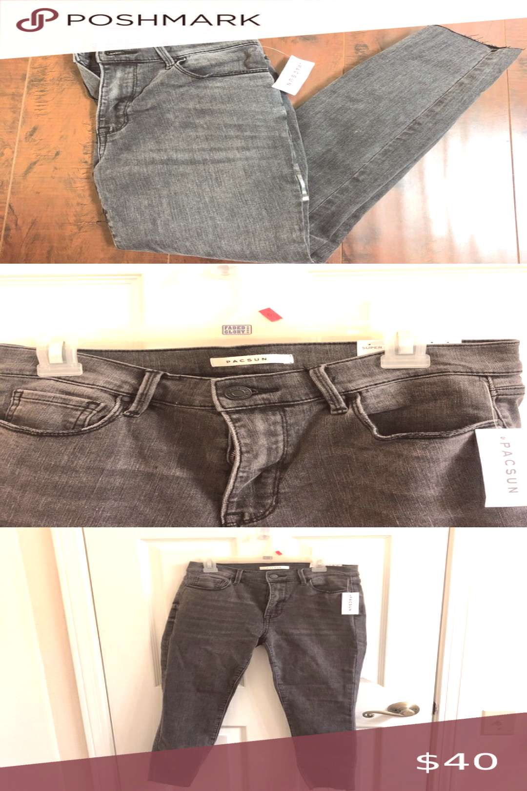 Spotted while shopping on Poshmark Grey Pacsun skinny jeans!