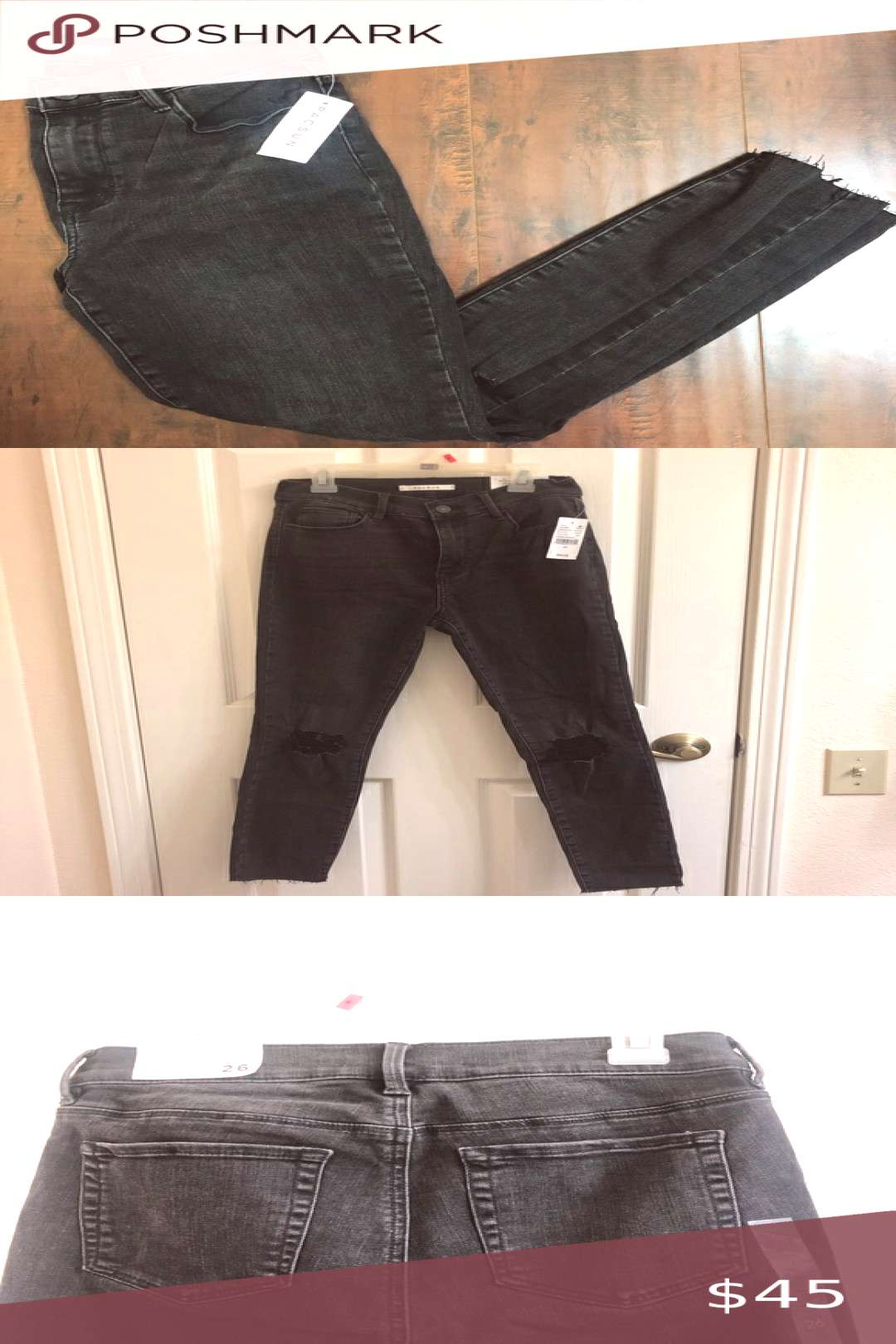 Spotted while shopping on Poshmark Pacsun faded black jeans with rips in the knees!