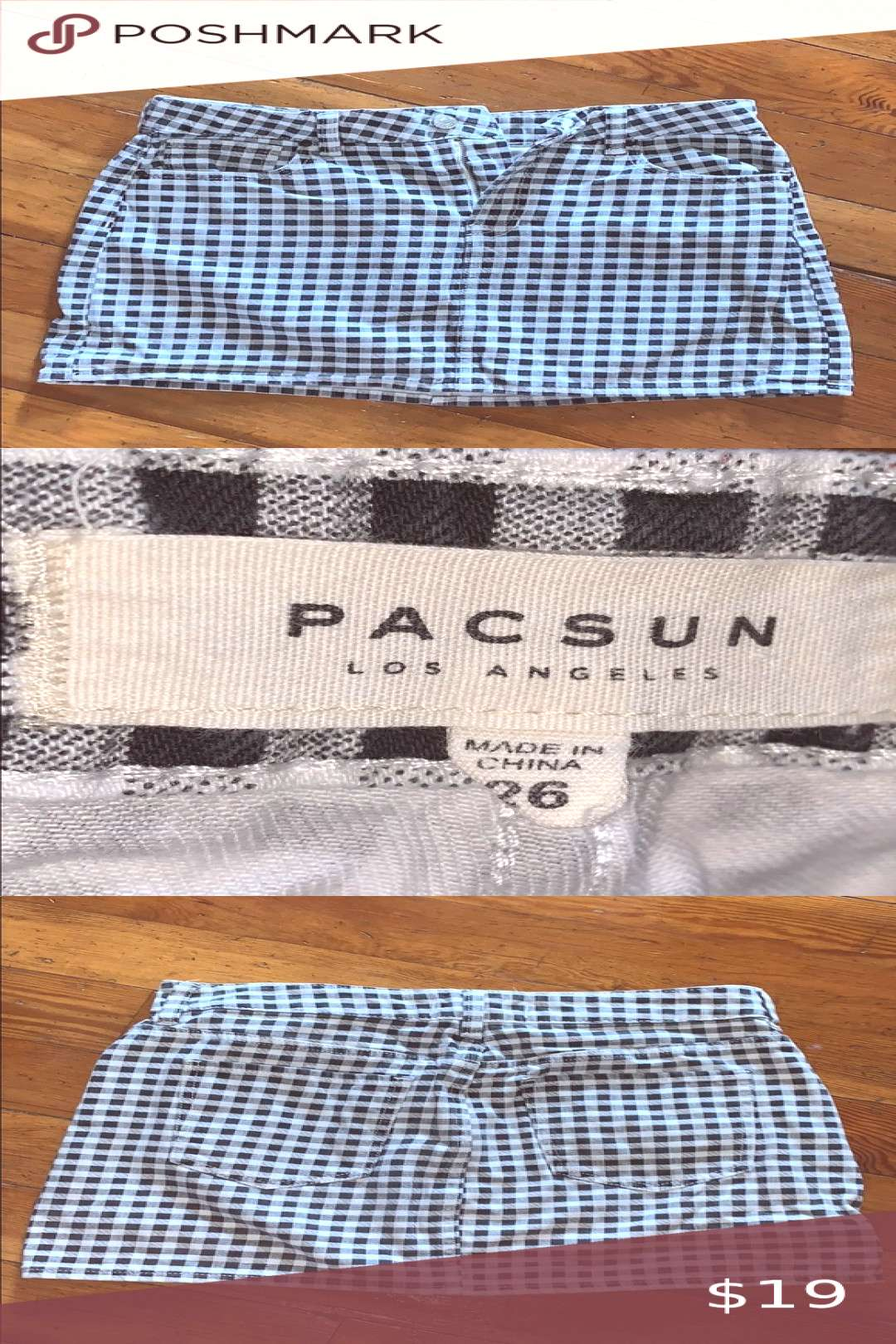 Spotted while shopping on Poshmark PacSun Gingham Plaid Mini Skirt! amp Skirts