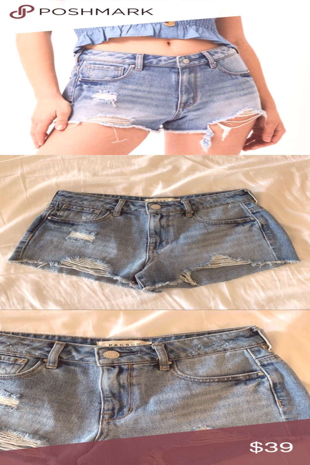 Spotted while shopping on Poshmark Pacsun Jean Shorts!