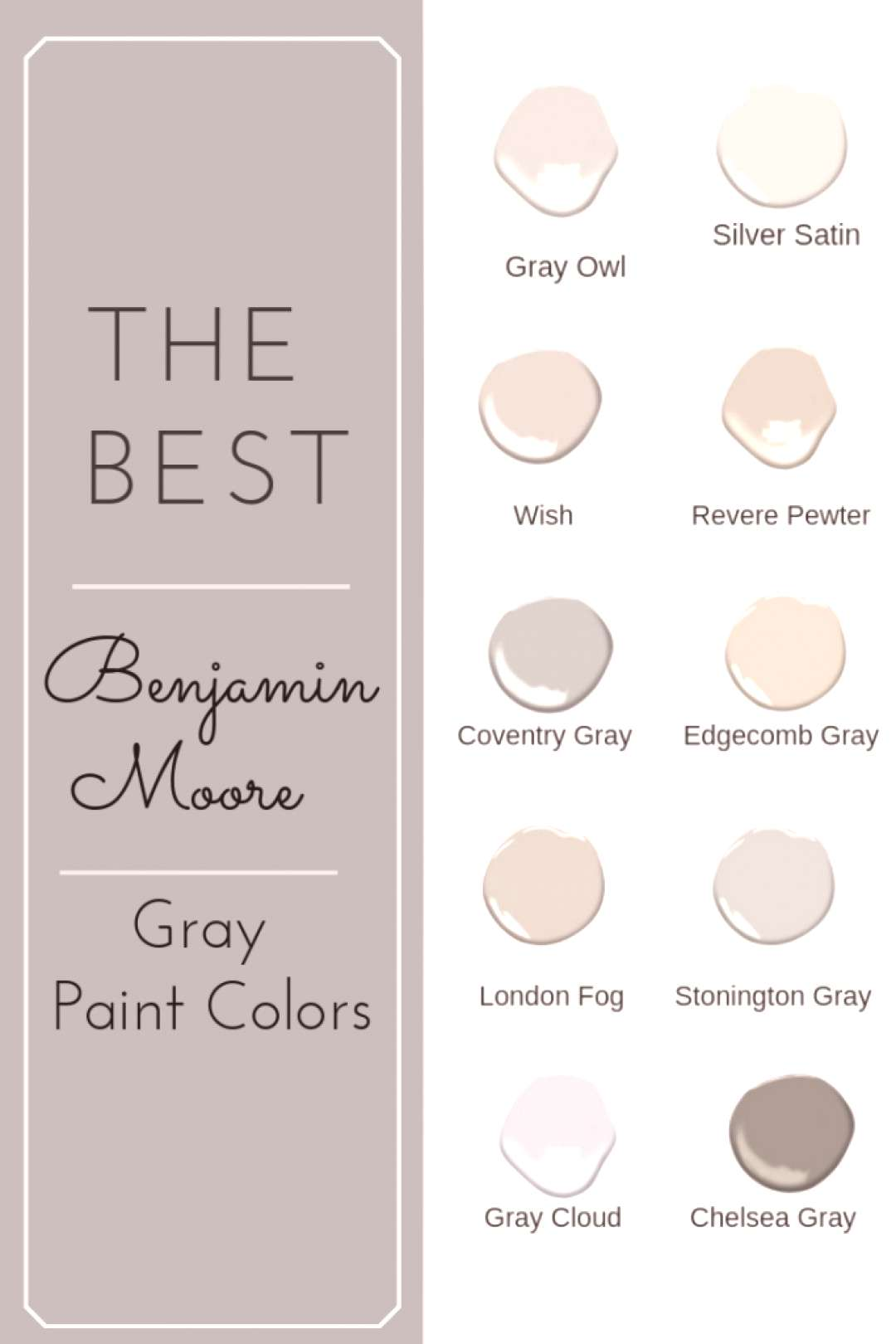 Struggling to find the perfect Benjamin Moore gray paint color? Struggle no more! Click to find you