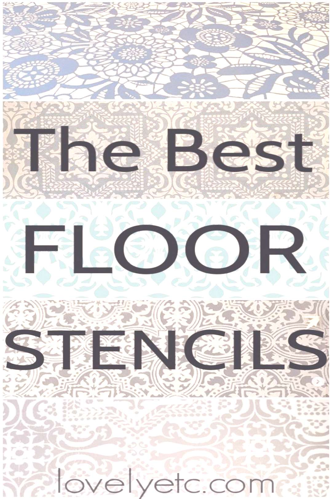 These are the best floor stencils out there for stenciling wood, tile, or vinyl floors. Plus tips f