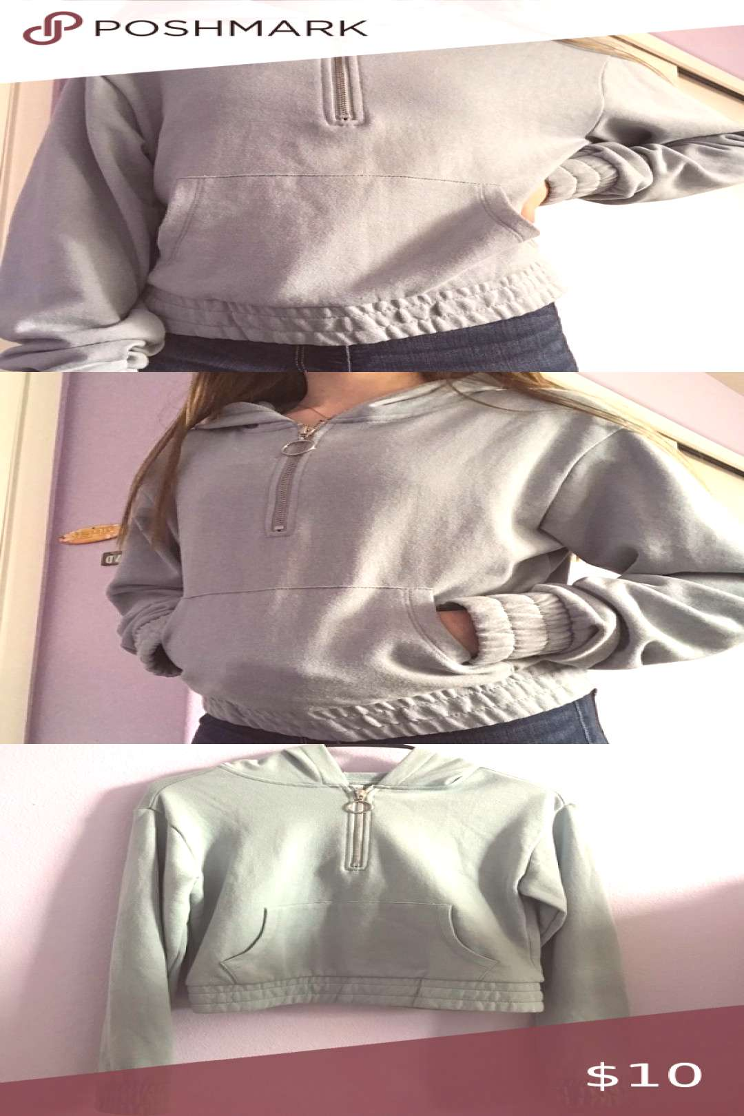 TILLYS quarter zip sweatshirt perfect condition, worn once. cuffed bottom and sleeves. light weight