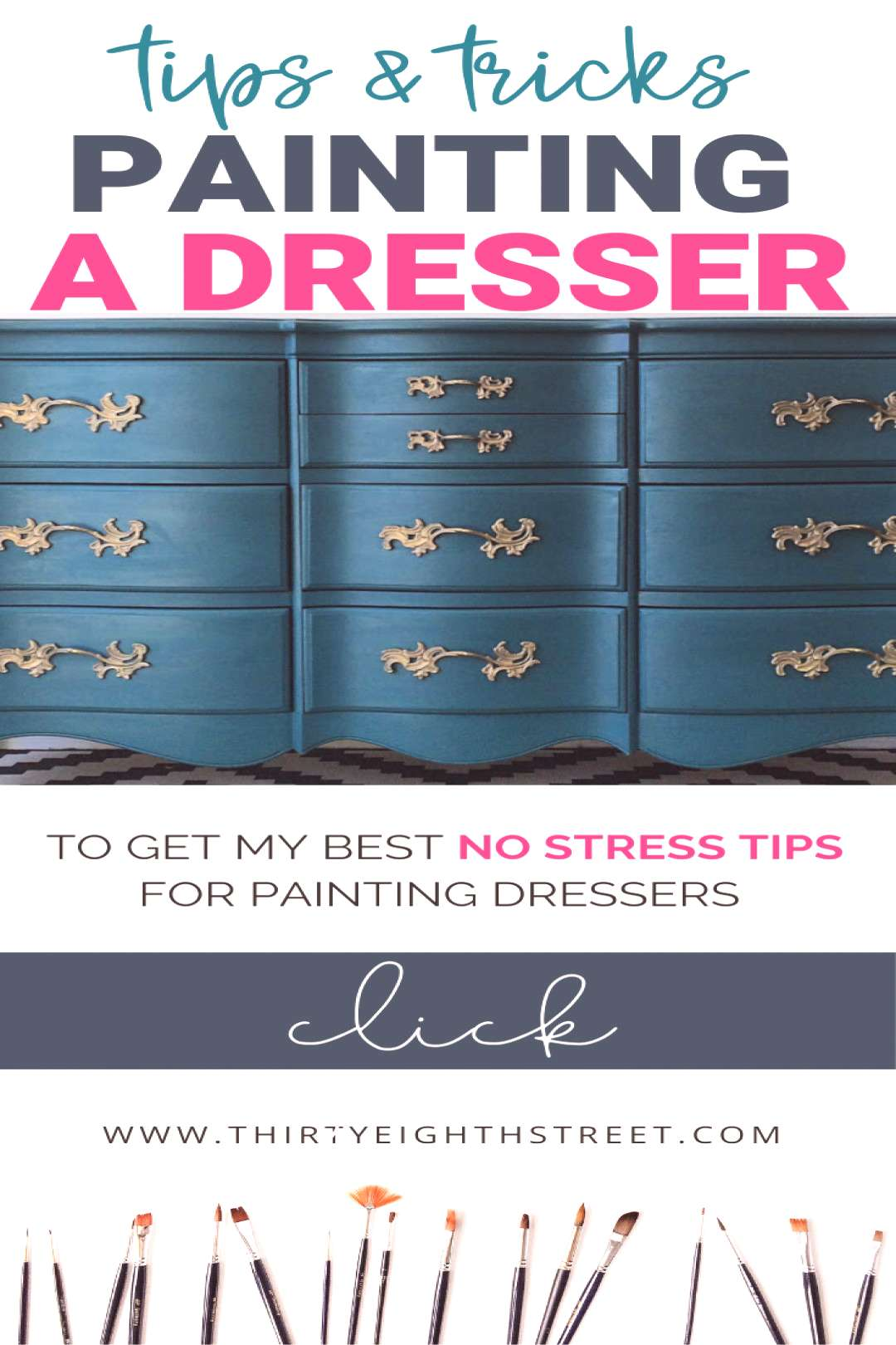 TOP TIPS FOR PAINTING DRESSERS This tips and tricks will help you paint a dresser beautifully! Pain