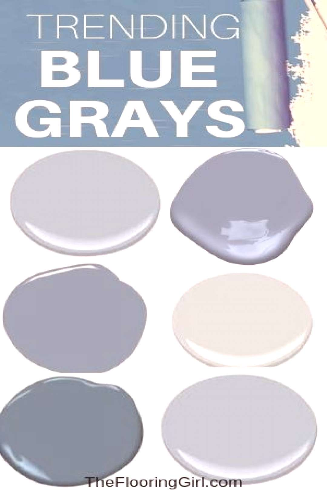 Trending blue gray paint colors that will add style to your home