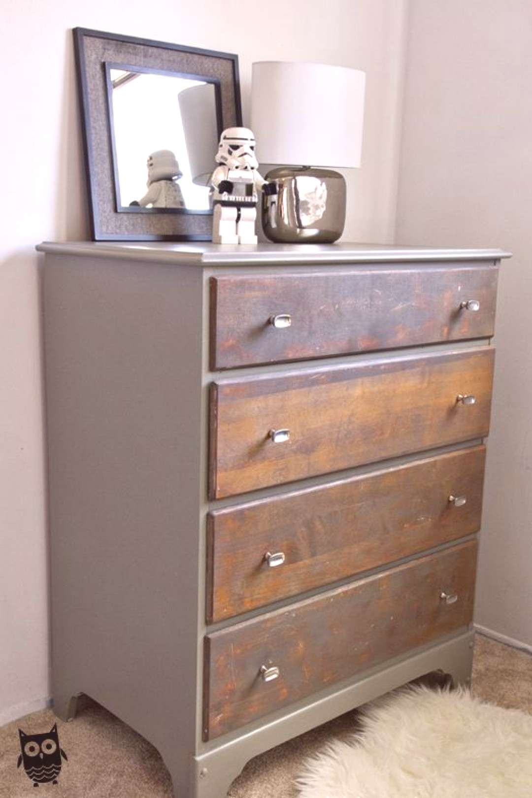 Two Toned Painted amp Stained Dresser I finally finished a project this weekend and couldn't wait t