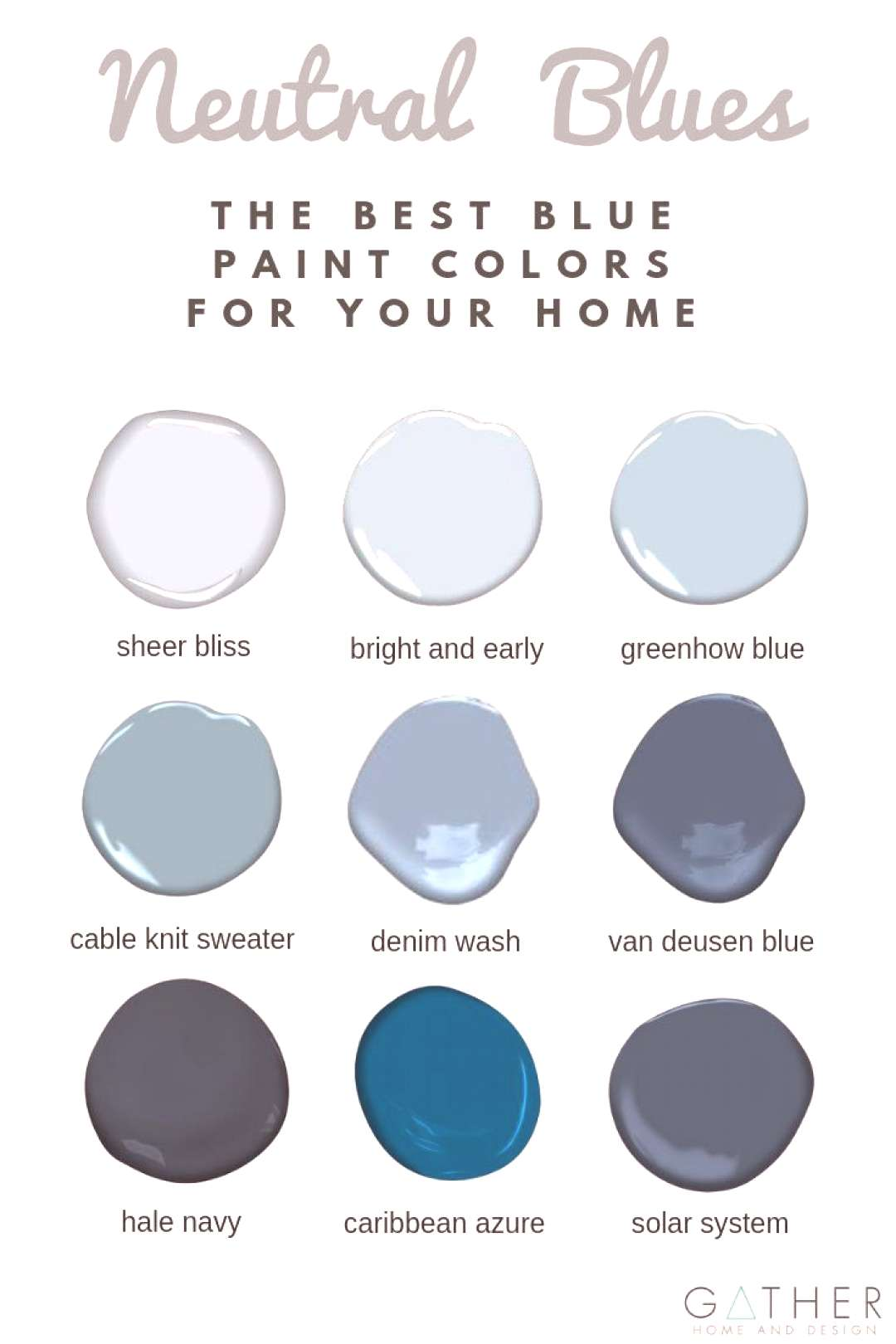 What are the best blue paint colors for your living room, kitchen, bedroom, or bathroom? Check out