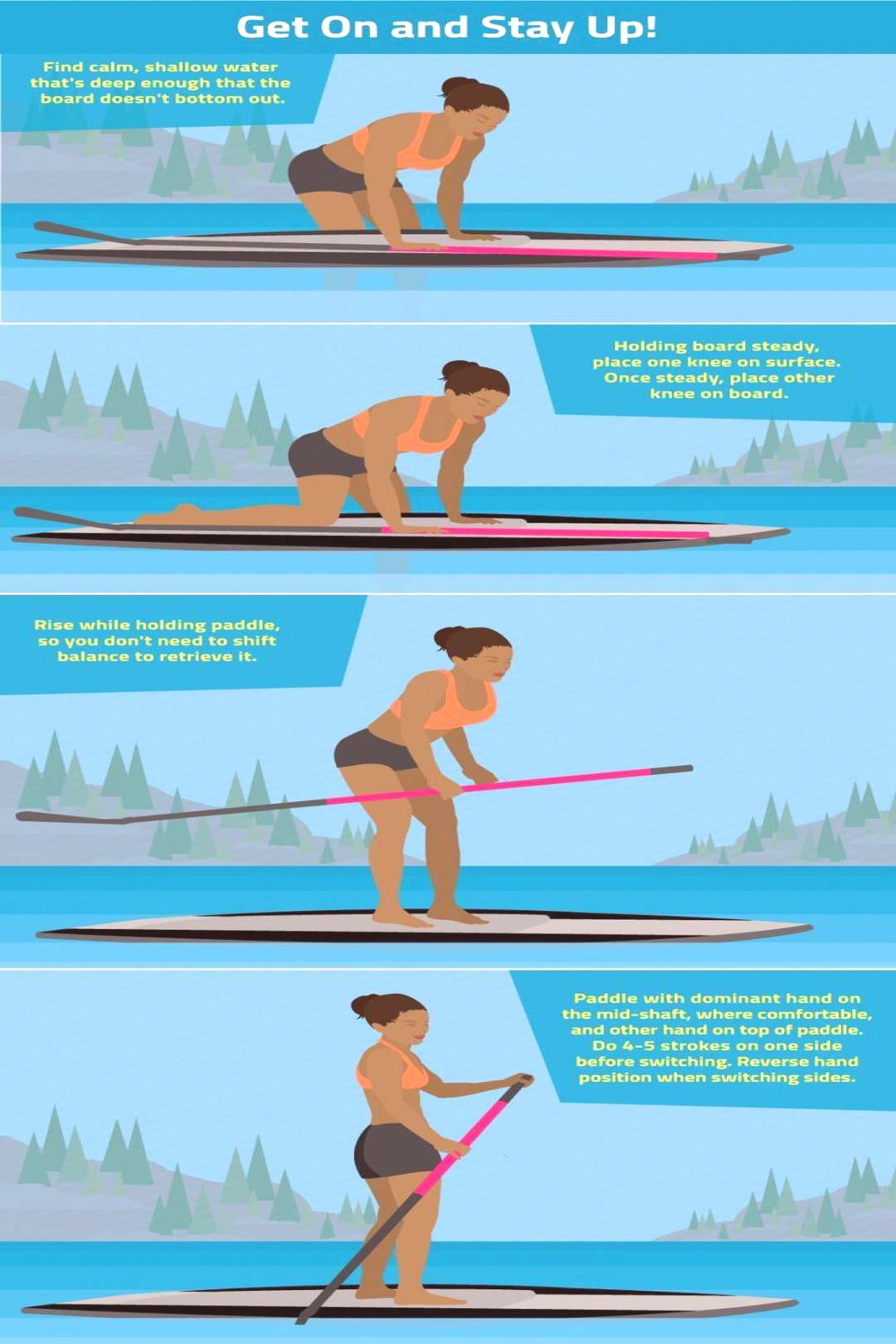 Yoga on a paddle board brings a brand new angle to exercise )